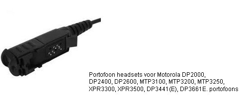 Portofoon headsets met M12 connector