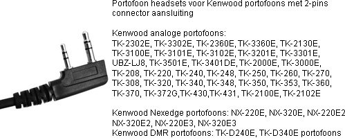 portofoon headsets met K1 connector