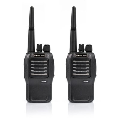 Midland G11V vergunningsvrije PMR446 portofoon set 2 stuks