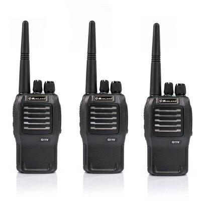 Midland G11V vergunningsvrije PMR446 portofoon set 3 stuks