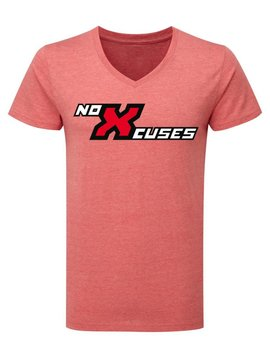 noXcuses slim fit V-neck T-Shirt men line