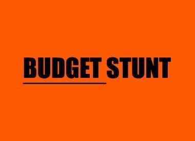 Budget-Stunt