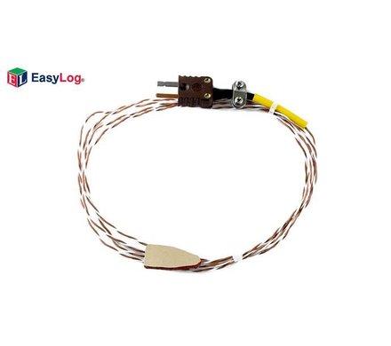 Lascar EasyLog T-TYPE SURFACE 1M5 T-Type thermokoppel sonde met rubberen tip