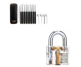 Lockpick set 14-delig van Southord + Transparant Oefenslot