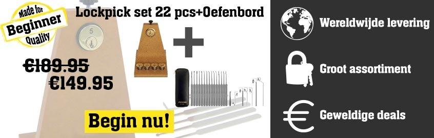 Lockpick set 22 pcs + oefenbord Banner