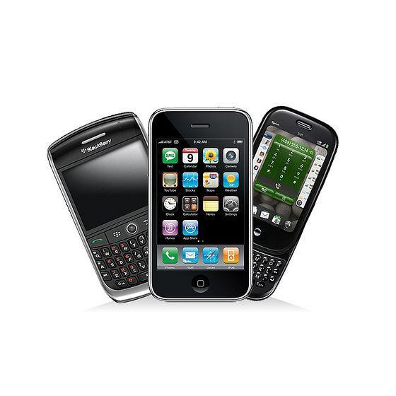 Diverse mobiele telefoons
