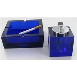J&S Supply Tancon Asbak Blauw met Aansteker