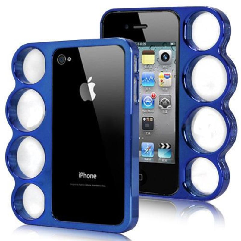 J&S Supply Boksbeugel Case Blauw iPhone 4/4s