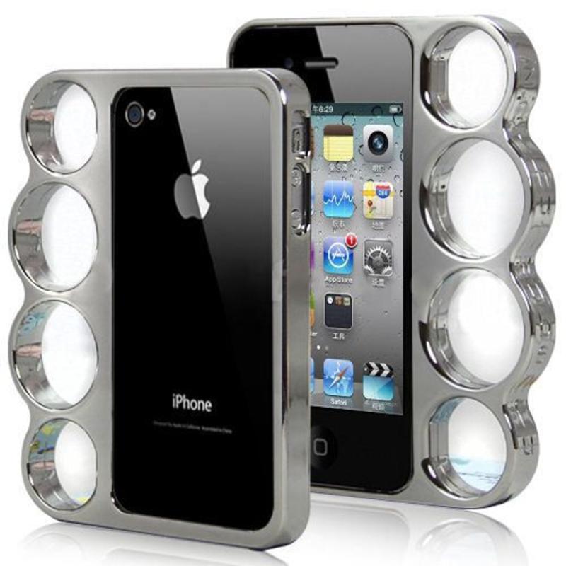 J&S Supply Boksbeugel Case Zilver iPhone 4/4s