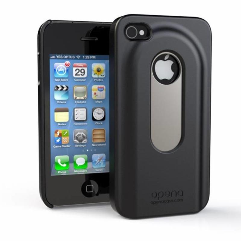 Bier Fles Opener Case iPhone 4 / 4S Wit en Zwart
