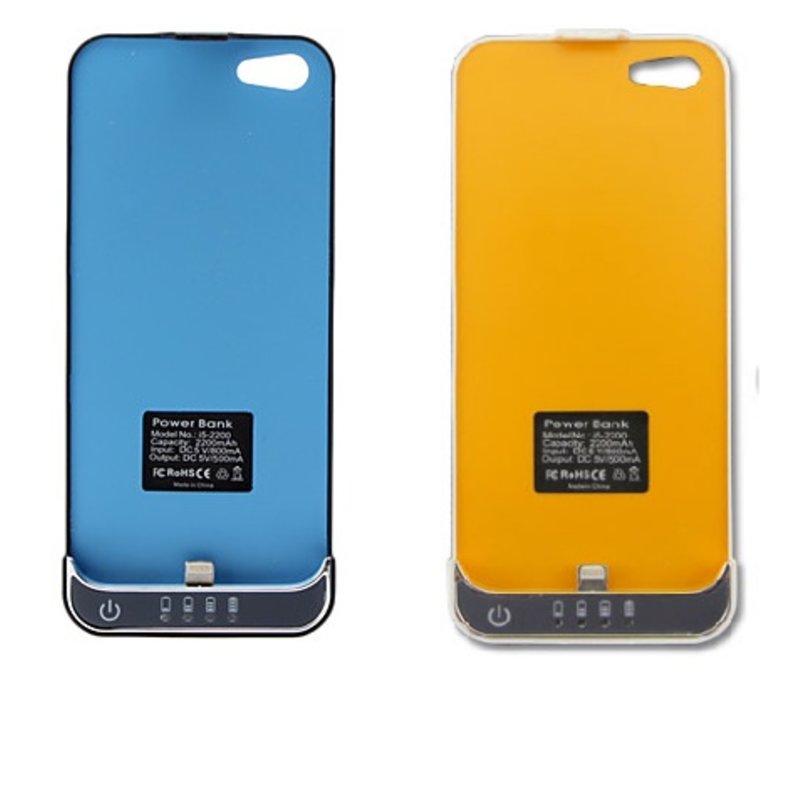 Ultra Slim iPhone 5 Cover Charger Accu Batterij 2200 mAh