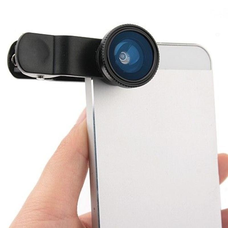 J&S Supply 3 in 1 Lieqi Clip Lens Macro Visooglens voor iPhone Samsung HTC iPad Tablet