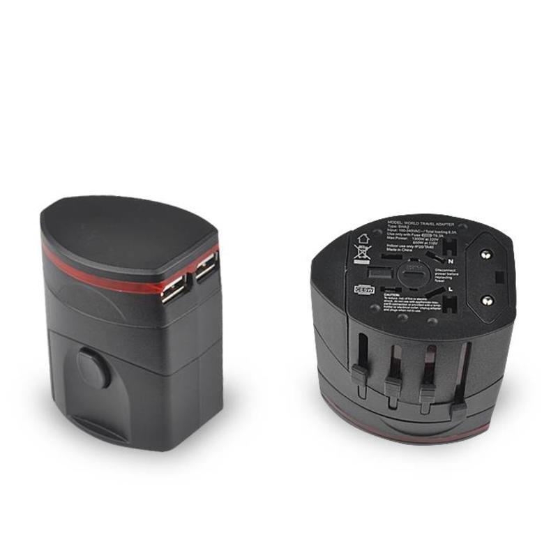J&S Supply Wereldstekker met USB
