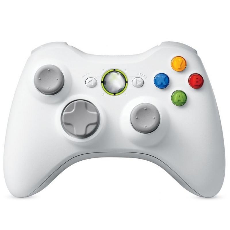 J&S Supply Draadloze controller voor Xbox 360 wit