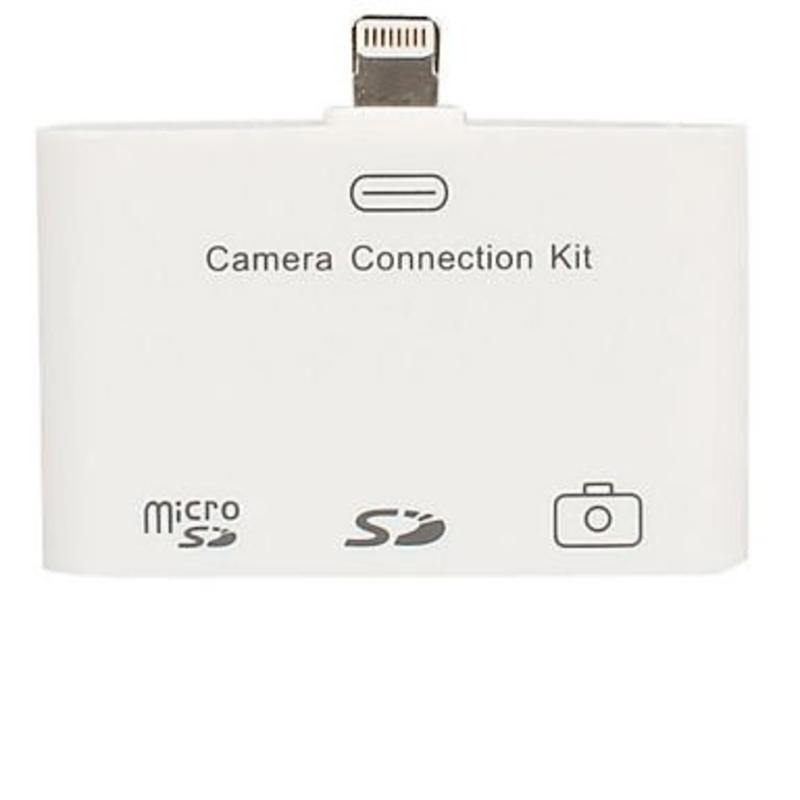 3-in-1 Lightning USB Camera Connection Kit SD Card Reader voor iPad 3 4 en Mini