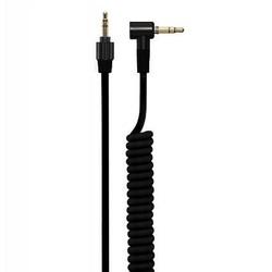 J&S Supply 4.2 mm Coiled Kabel met 3.5 mm Twist Lock Plug Zwart
