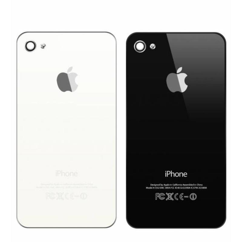 Back Cover Zwart Wit voor de iPhone 4