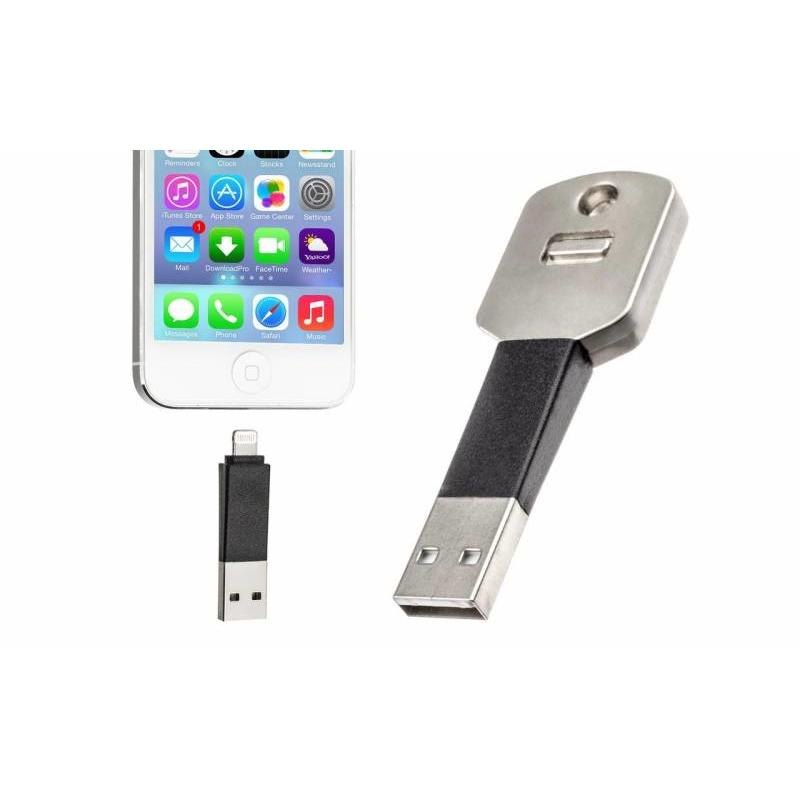 J&S Supply Lightning USB sleutelhanger voor iPhone 5