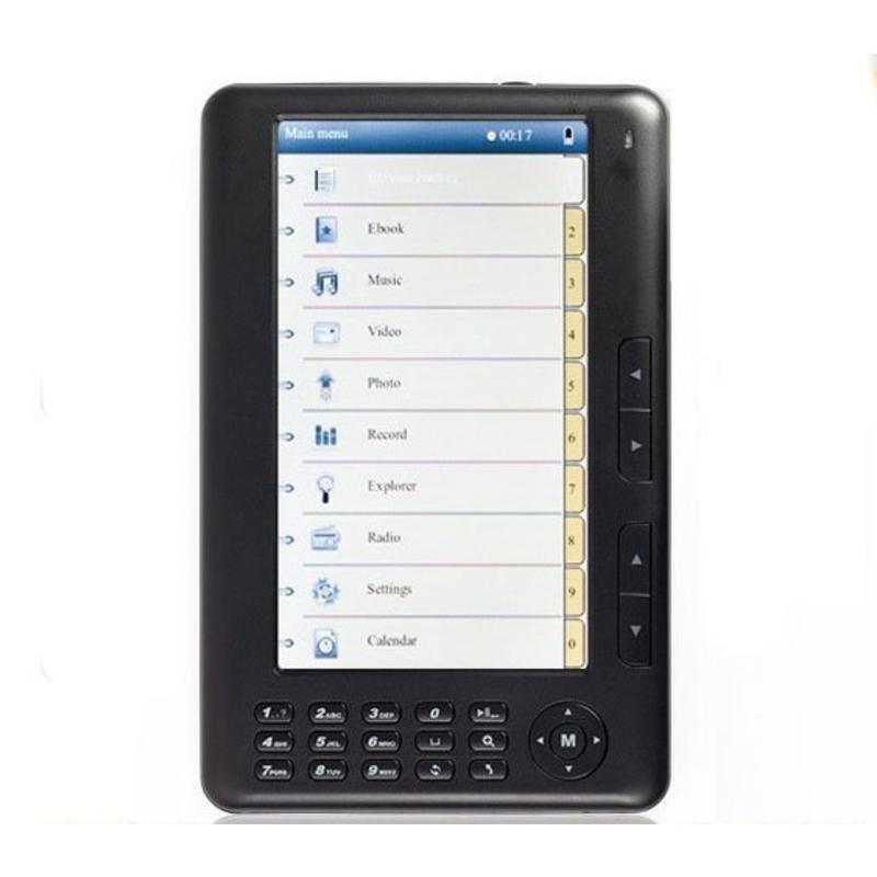 7 inch Ebook Reader 4GB Zwart