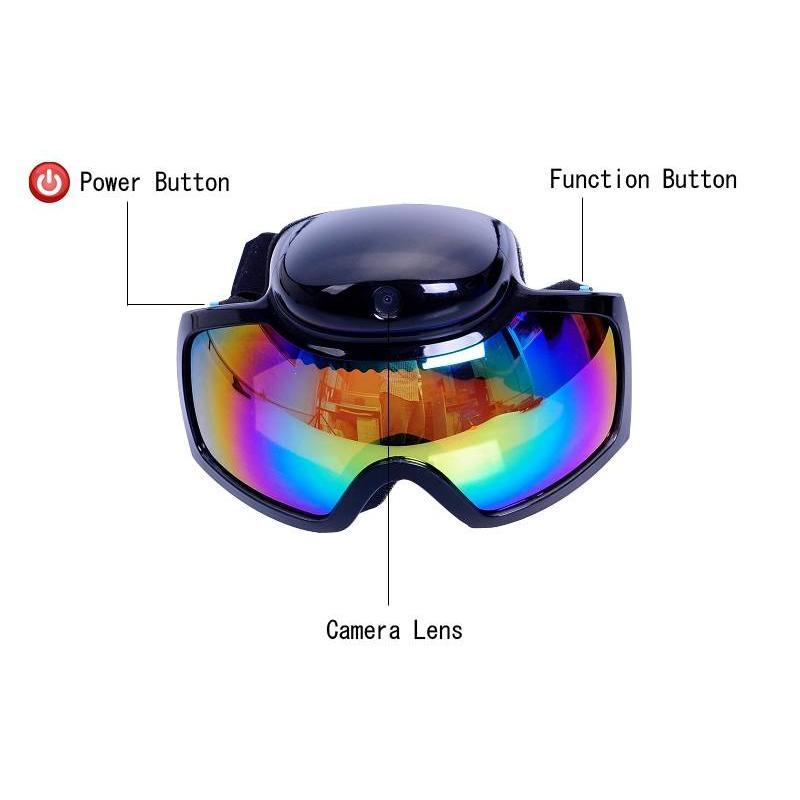 Skibril Goggles met HD camera