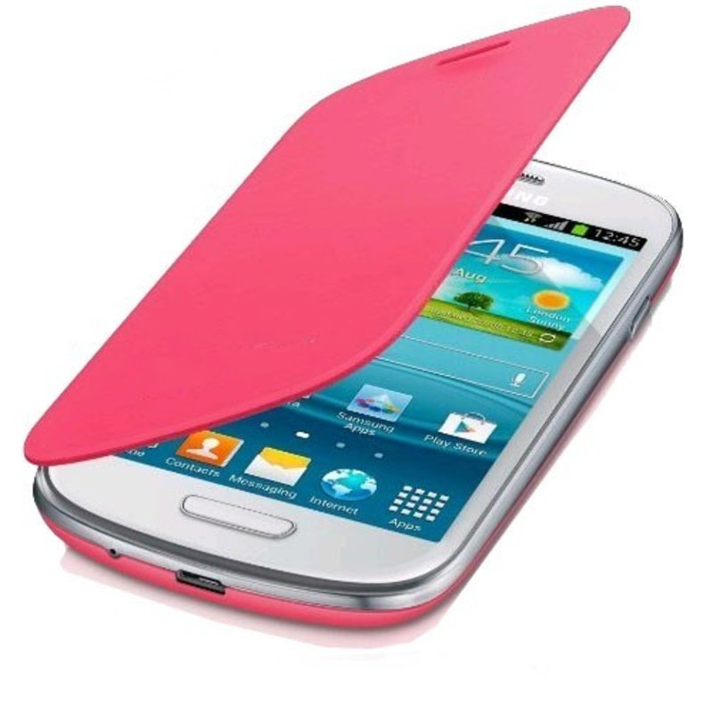 J&S Supply Samsung Flip Cover voor de Galaxy S3 Mini i8910 - Roze / pink