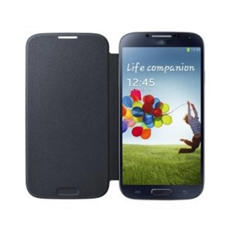 J&S Supply Samsung Flip Cover voor de Galaxy S4 - Zwart