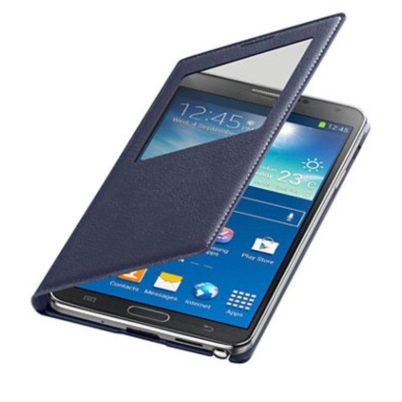 J&S Supply Samsung S View Flip Cover voor de Note 3 - Blauw