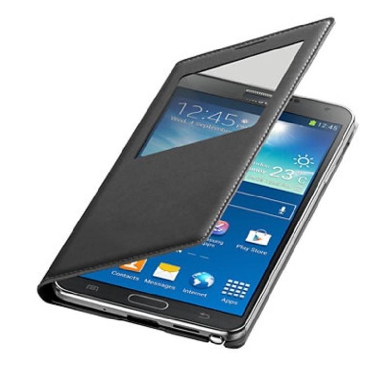 J&S Supply Samsung S View Flip Cover voor de Note 3 - Zwart