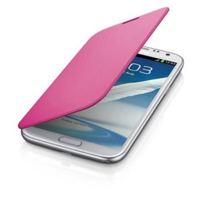 J&S Supply Samsung Flip Cover voor de Note 2 N7100 - Roze / pink