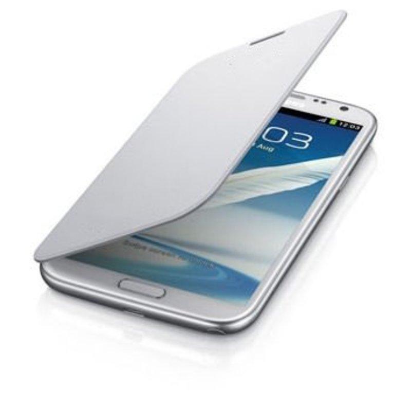 J&S Supply Samsung Flip Cover voor de Note 2 N7100 - Wit