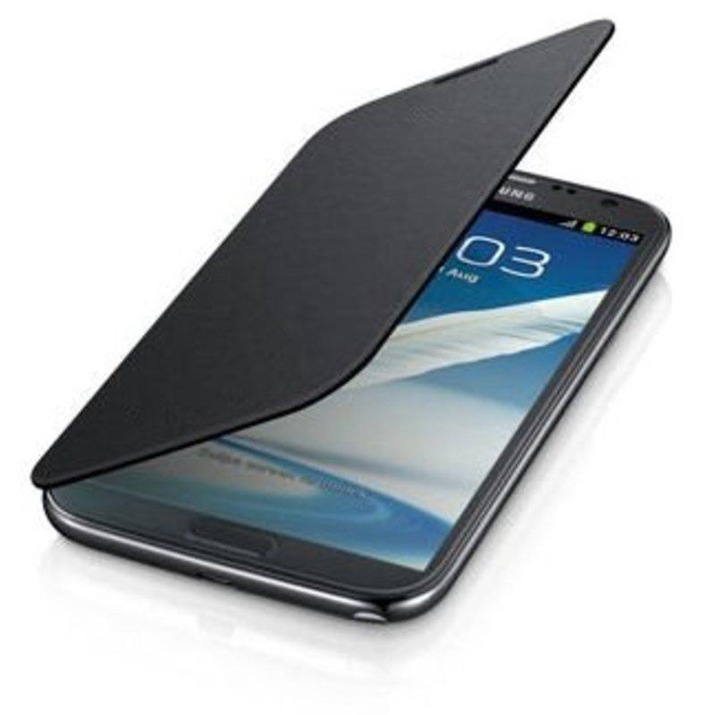 J&S Supply Samsung Flip Cover voor de Note 2 N7100 - Zwart