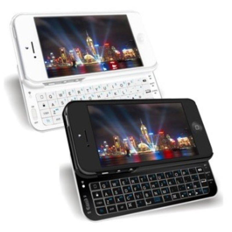 J&S Supply Slide Toetsenbord met Verlichting Wit en Zwart voor iPhone 5