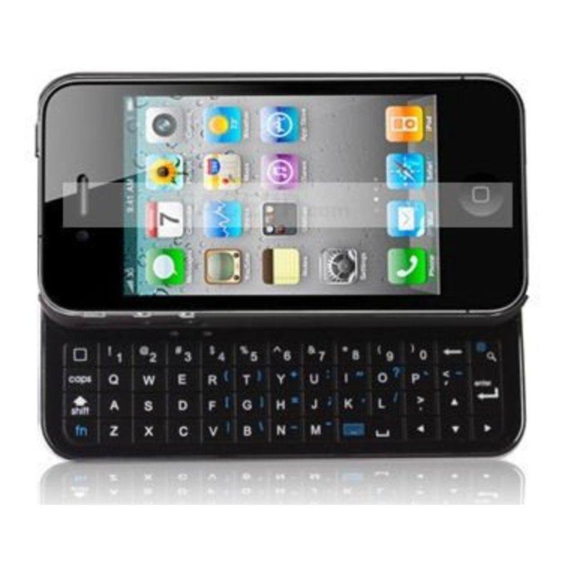 J&S Supply Slide Toetsenbord met Verlichting Zwart voor de iPhone 4/4s