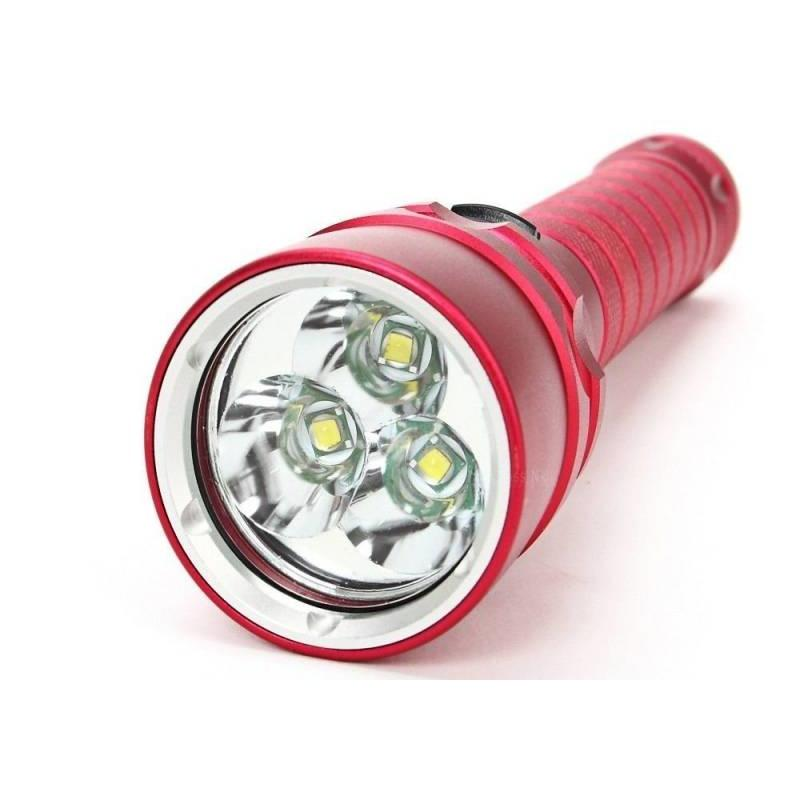 J&S Supply Led Zaklamp Rood