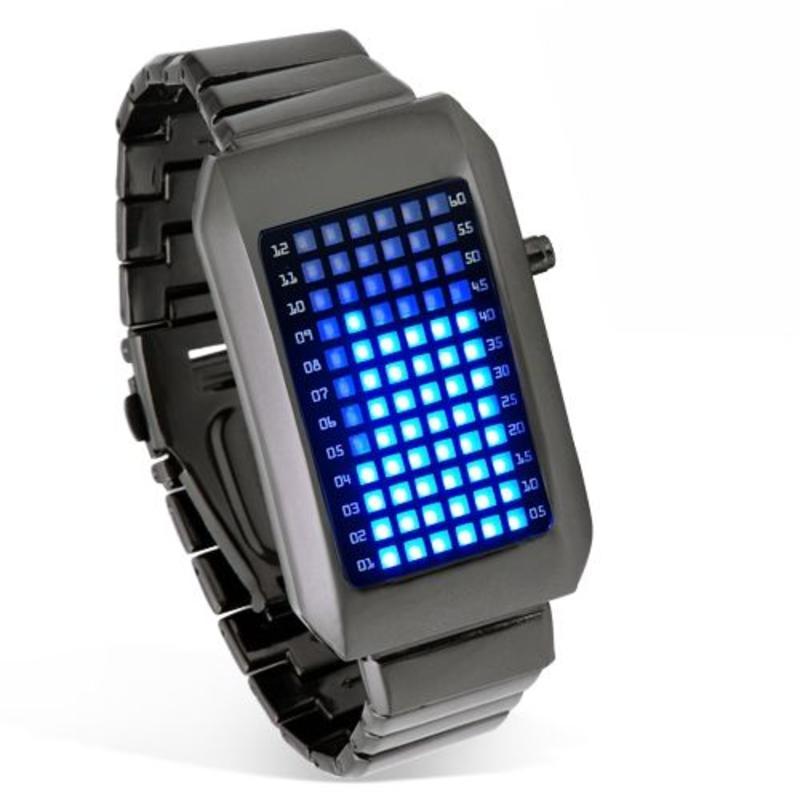 LED horloge metaal