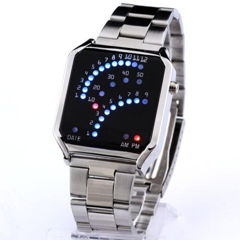 J&S Supply LED horloge staal