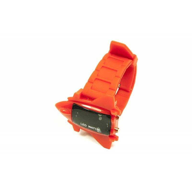 J&S Supply LED horloge airplane rood
