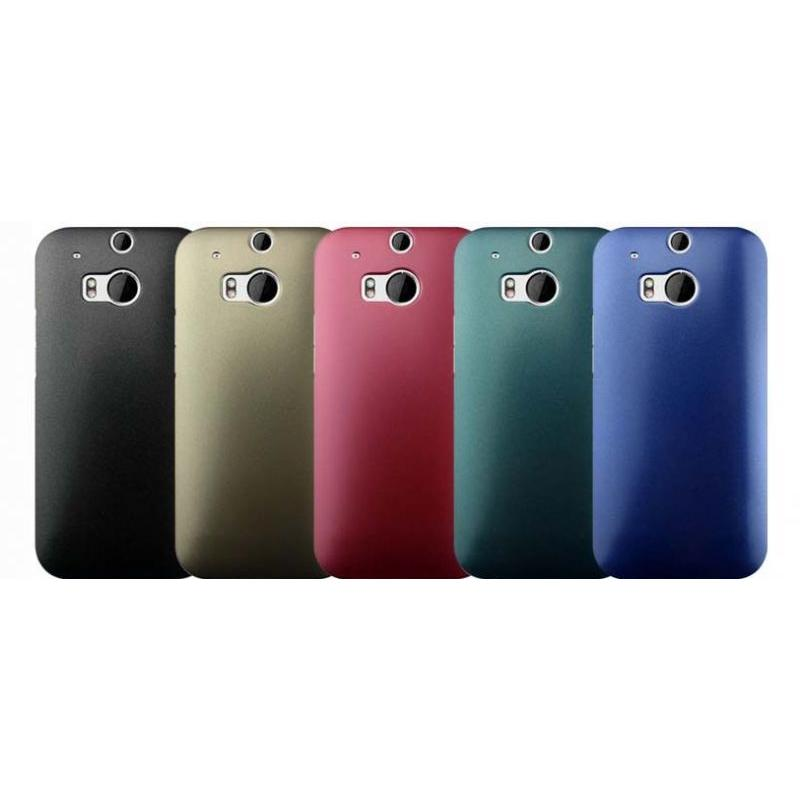 J&S Supply HTC ONE M8 Hard Shell Back Cover Metallic