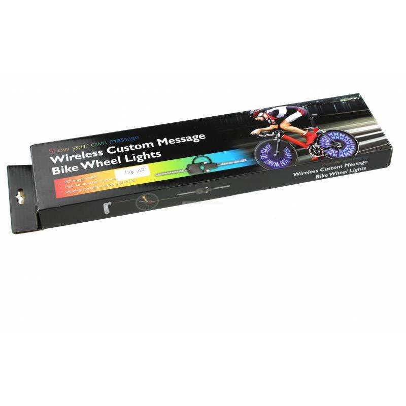 Wielverlichting voor de fiets met tekst I Cheaptech - Home