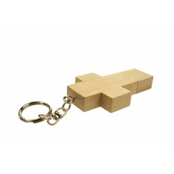 J&S Supply Houten Kruis USB Stick