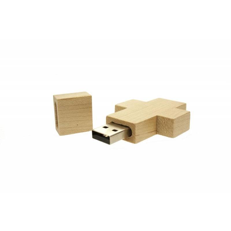 Houten Kruis USB Stick