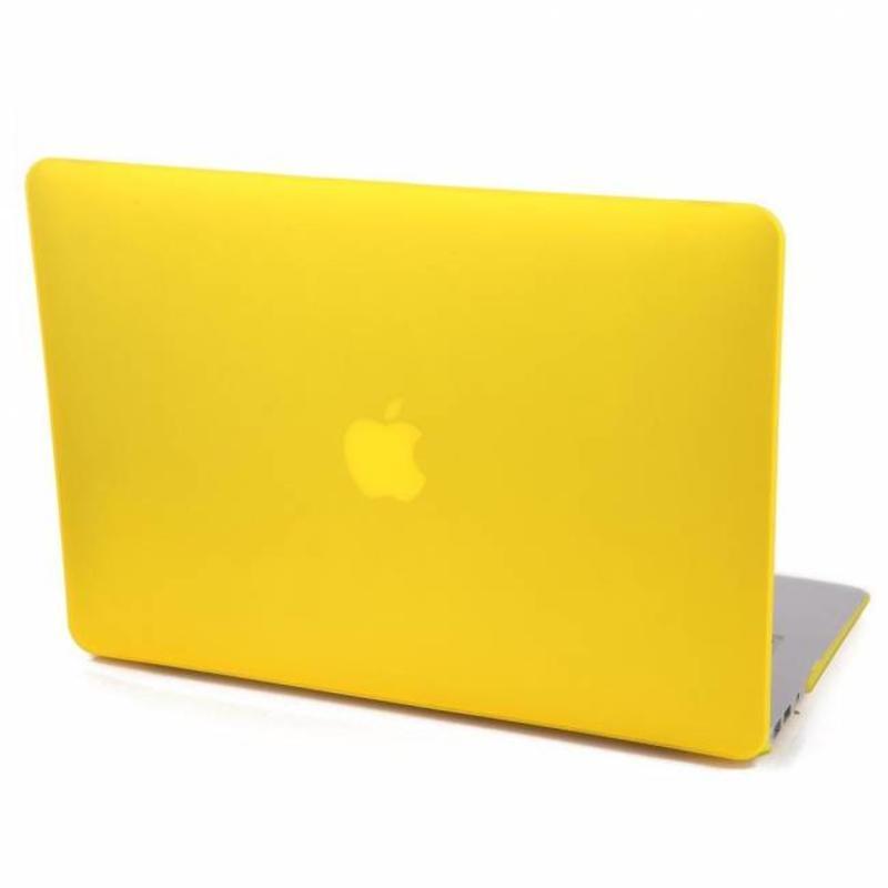 J&S Supply Hardshell Cover SmartShell Mat geel voor de MacBook Pro 15 inch Retina