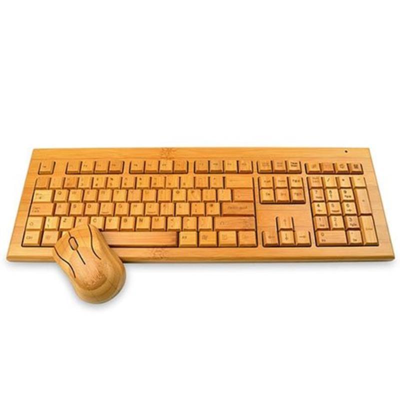J&S Supply Houten toetsenbord met muis combi
