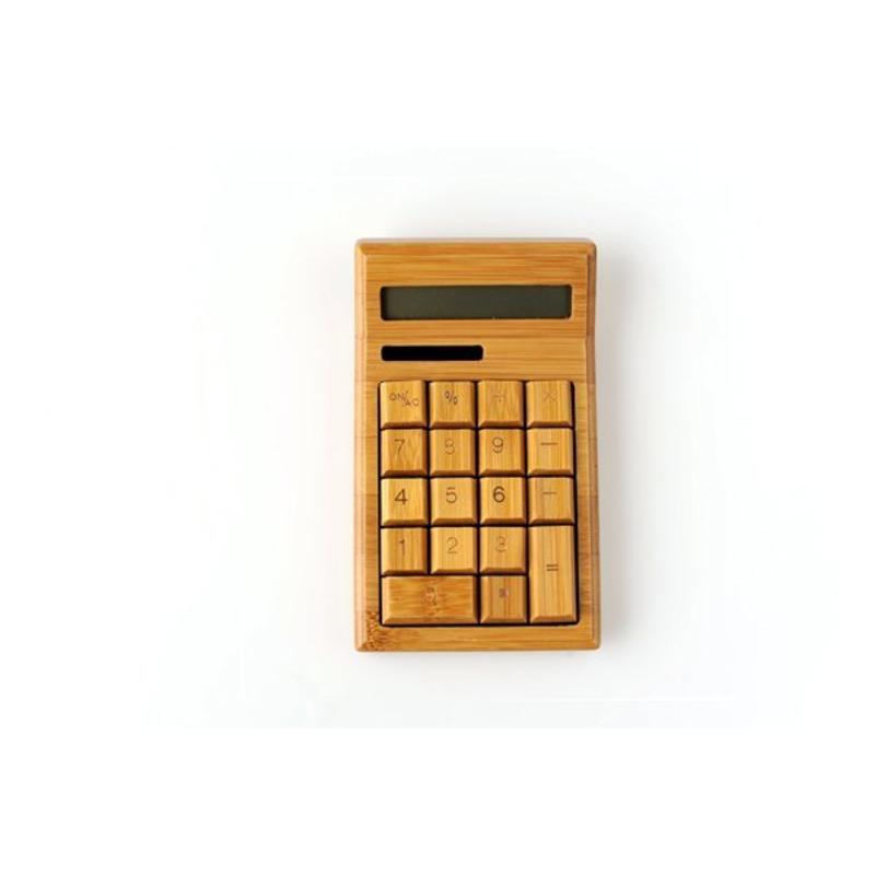 J&S Supply Houten rekenmachine op zonne-energie