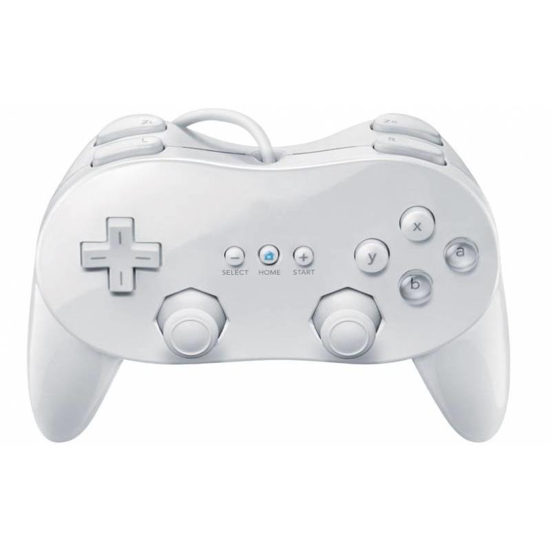 J&S Supply Controller Joystick Classic Wit voor de Nintendo Wii Pro