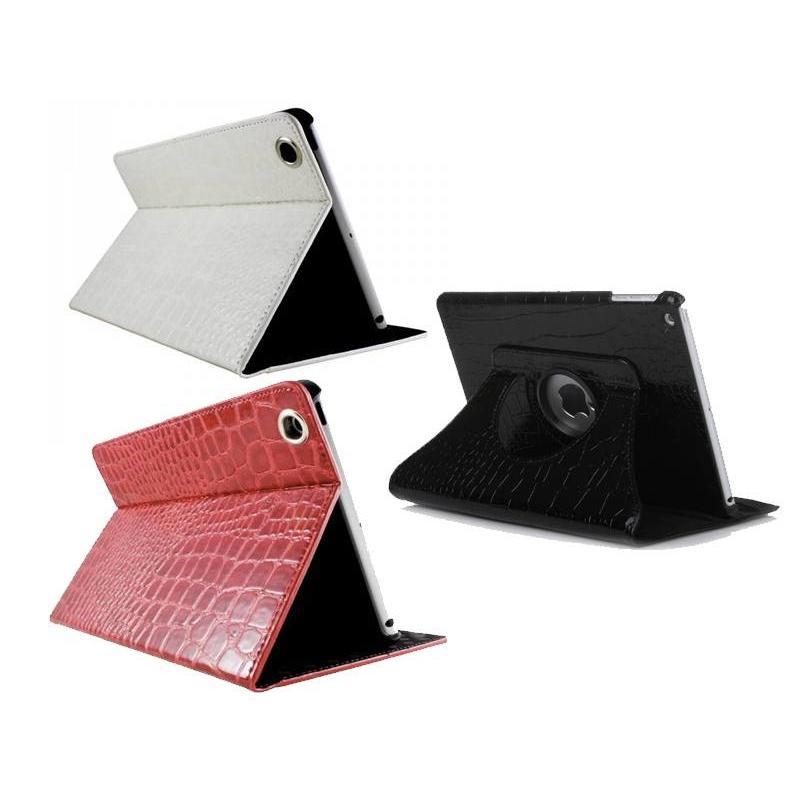 Krokodil Leer Hoes voor iPad 2,3,4 - Rood, Zwart of Wit