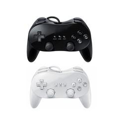 J&S Supply Controller Joystick Classic Zwart voor de Nintendo Wii Pro