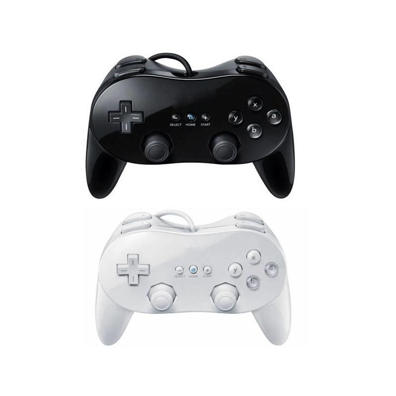 Controller Joystick Classic Zwart voor de Nintendo Wii Pro