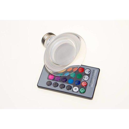 Led Lamp Spot Glas met Afstandsbediening