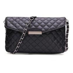 J&S Supply Zwarte Clutch Tas met Schouderband